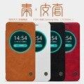 Nillkin case cubierta de cuero genuino para asus zenfone max zc550kl teléfono coque funda fundas estuches + HD/pantalla de Cristal protectores