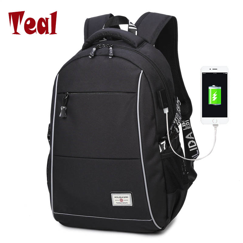 2017 New Fashion Bag Male Student Bag Oxford Cloth Waterproof USB Laptop Backpack Business Men Bag Famous Design Large Capacity 2017 fashion women waterproof oxford backpack famous designers brand shoulder bag leisure backpack for girl and college student
