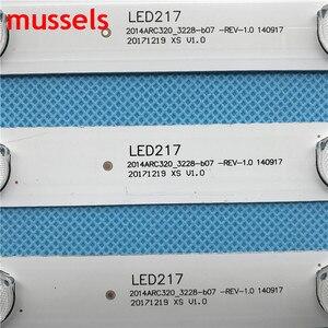 "Image 3 - LED backlight strip For 32"" Samsung TV 7 lamp GRUNDIG 32 VLE 5504 BG 2014ACR320 BEKO B32 LB 5537 B32 L 4511 ALTUS AL32LBM410 New"