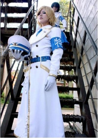 New Hot Sale Dolls Tokkei Butai Mikoshiba Shouta / Shikibu Seiju Cosplay Costume Anime Customized White Uniform