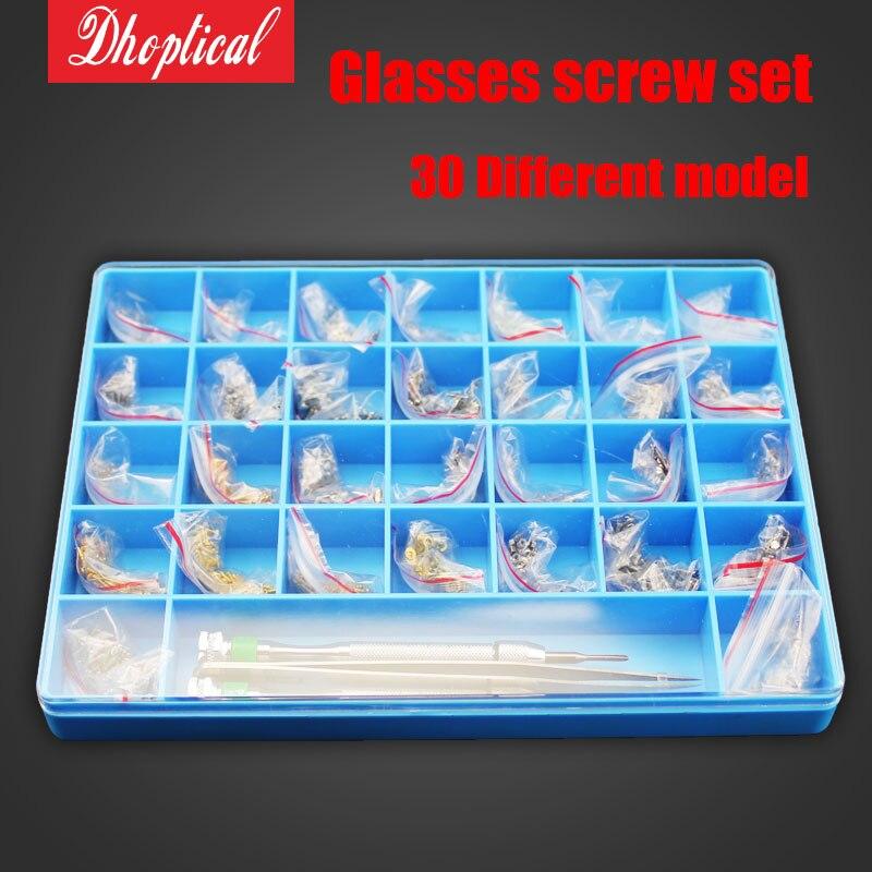 Livraison gratuite lunettes vis ensemble, lunettes de soleil vis, lunettes de lecture vis nez pad vis ensemble de vis en gros
