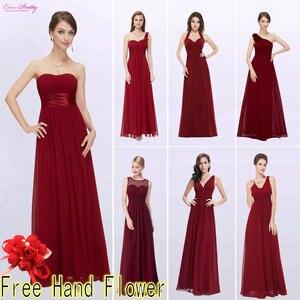 Image 3 - ブルゴーニュウエディングドレス以来きれいな女性の 2020 格安aラインシフォンロイヤルブルーロング新婦のドレスウェディングパーティー