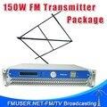FMUSER FSN-150 150 Вт 2U Профессиональные FM Трансляция Радио Передатчик + CP100 Круговой Поляризацией Антенны + 20 м SYV-50-7 Кабель