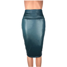 2019 Explosion Models Wild OL Imitation Leather High Waist Bag Hip and Knee Skirts Imitation Leather Bag Hip PU Skirt hip bag