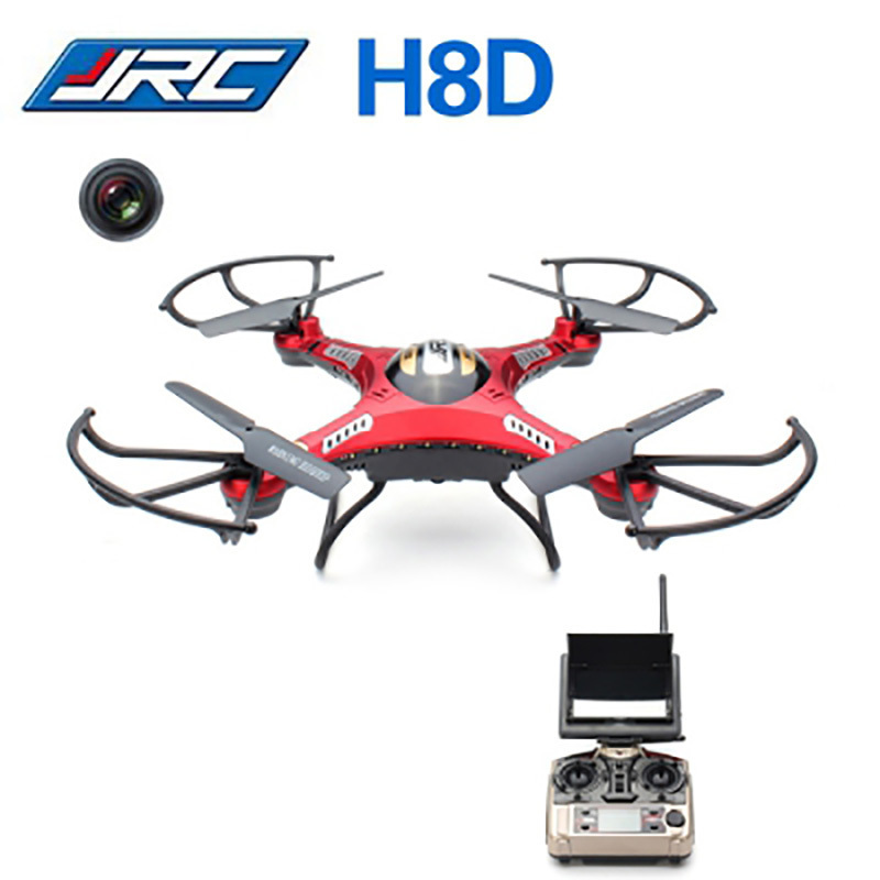 JJRC H8D 2.4Ghz 5.8G FPV RC Quadcopter Drone with 2MP Camera FPV Monitor Display RTF RC helicopter Headless Mode One Key Return with more battery original jjrc h12c drone 6 axis 4ch headless mode one key return rc quadcopter with 5mp camera in stock