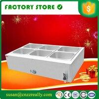 Lebensmittel wärmer 3KW professionelle kommerziellen küche ausrüstung edelstahl elektrische zähler top bain marie