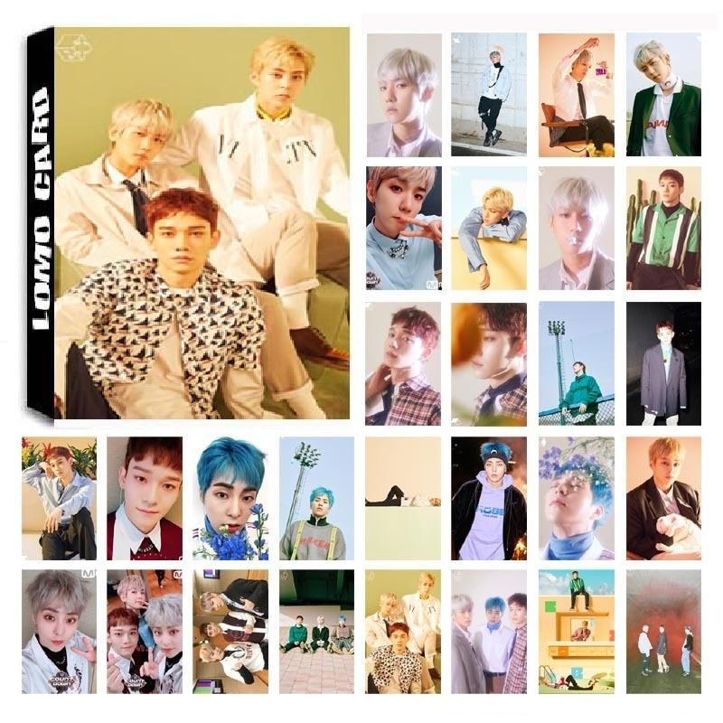 1 Box 30 Teile/satz Kpop Exo Cbx Chen Team Album Blühende Tage Hd Foto Karte Pvc Selbst Made Lomo Photocard
