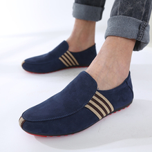 2017 Hot Sell Fashion Suede Slip On Men's Boat Shoes Breathable Gommini driving shoes men loafers casual mocassim masculino Shoe