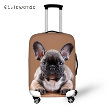 ELVISWORDS Protective Suitcase Cover Cute Bulldogs Elastic Dust-proof Luggage Little Animal Waterproof Accessorie