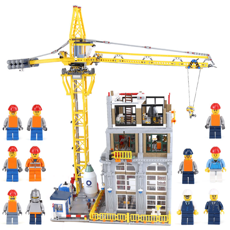 Lepin 15031 Genuine MOC Building Series The Construction with Crane Set legoing Building Blocks Bricks as Kids Birthday Gifts