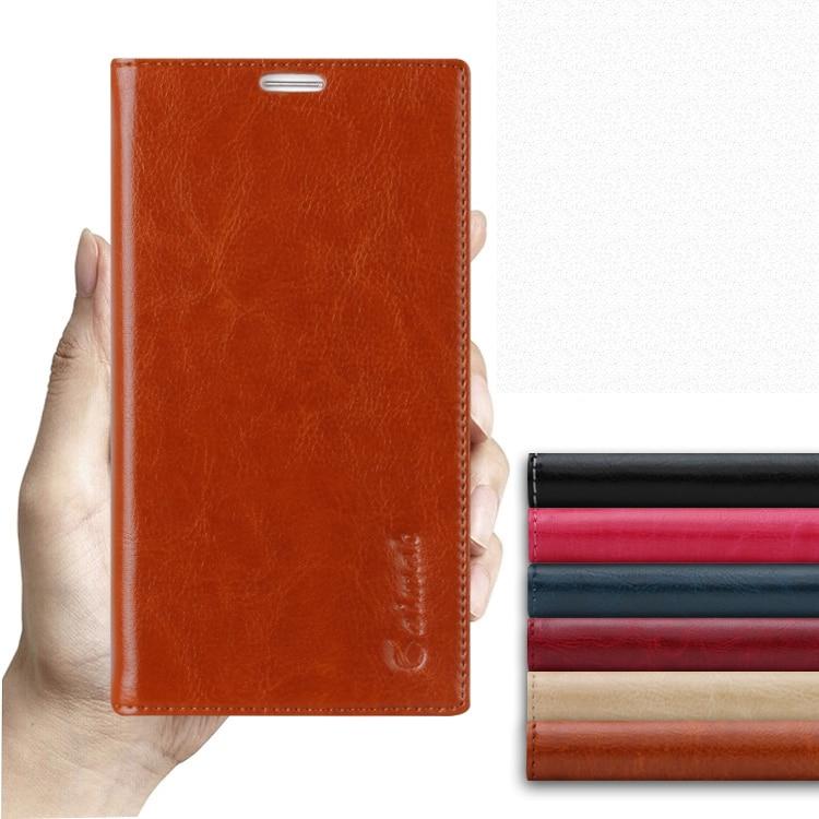 imágenes para Para huawei ascend mate 1 mt1-u06 x1 6.1 ''de la alta calidad natural cuero genuino del tirón de lujo del soporte de la cubierta case teléfono móvil bolsa