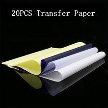 20pcs Tattoo Thermal Stencil Transfer Paper A4 Size Spirit Tattoo Thermal Copier Paper For Tattoo Supply