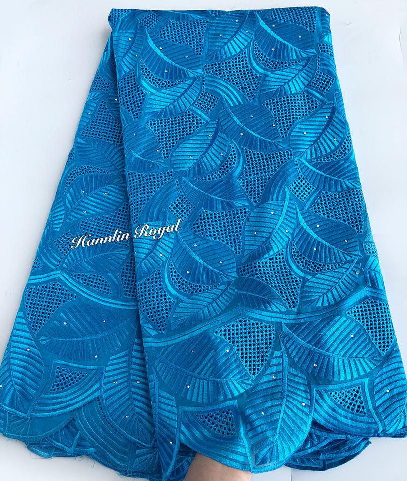 5 yards türkis blau sehr weich echte Schweizer Spitze Hohe qualität Afrikanische stickerei voile spitze stoff mit kleine öse löcher-in Spitze aus Heim und Garten bei  Gruppe 1