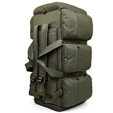 90L Large Capacity Mens Military Tactics Backpack Multifunction Waterproof Oxford Hike Camp Backpacks Wear resisting Travel Bag