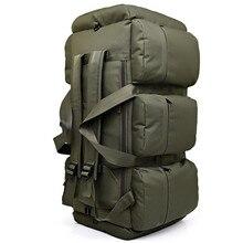 Mochila tática militar grande capacidade 90l, masculina, à prova dágua, multifuncional, para acampamento, caminhada, bolsa de viagem
