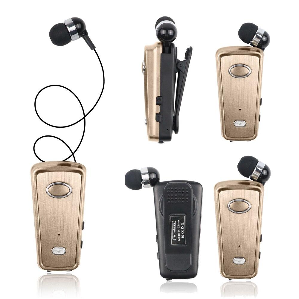 Bluetooth 5.0 Earphones AKZ-Q1 Clip Retractable Business Car Headphones Bluetooth Earphone Sports Earbuds Headset For All Phones