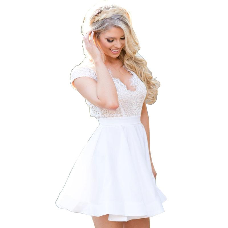 Online Buy Wholesale white skater dress from China white skater ...