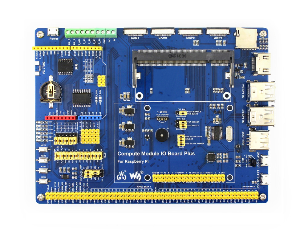 Compute Module IO Board Plus Composite Breakout Board for Developing with Raspberry Pi CM3, CM3L Various common use components ds3231n raspberry pi rtc board real time clock module for arduino red