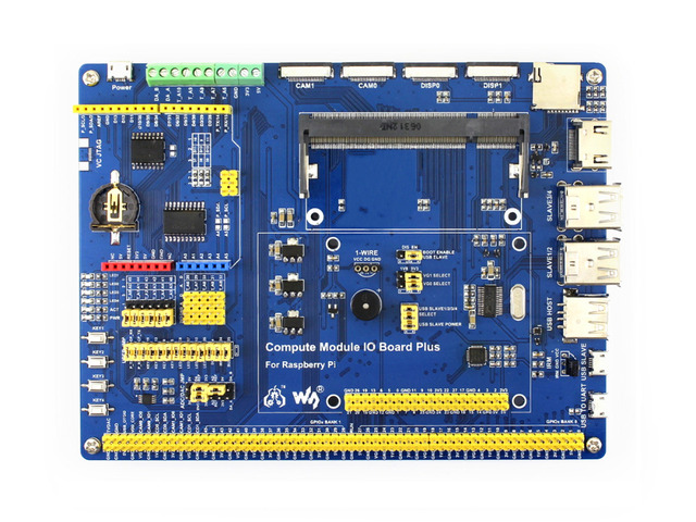 Compute Module IO Board Plus Composite Breakout Board for Developing with Raspberry Pi CM3, CM3L Various common use components