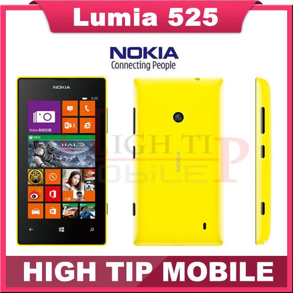 """Teléfono móvil Nokia, lumia 525 abrió el 1024 MHz 4.0 """" TFT 5.0MP 8 GB Dual Core GPS WIFI de Windows OS 8 3 G reformado"""