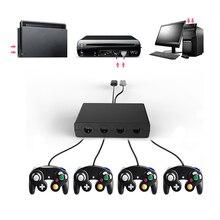 HAOBA 4 พอร์ตคอนโทรลเลอร์สำหรับ GC Cube สำหรับ Wii U PC USB Game Controller สำหรับ Ninten สวิทช์
