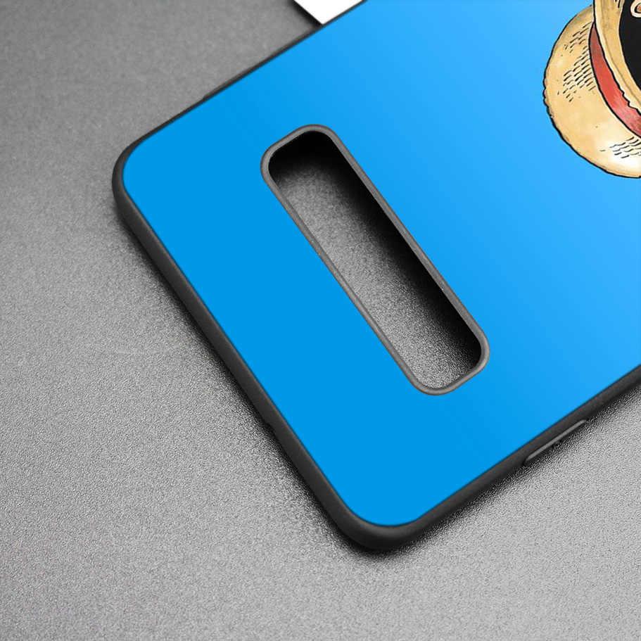 One Piece Luffy Đen Silicone Trường Hợp đối Với Samsung Galaxy M20 S10e S10 S9 M10 S8 Cộng Với 5G S7 S6 cạnh Bìa Coque