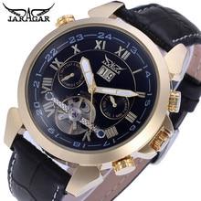 JARAGAR Hombres Tourbillon Relojes Mecánicos Automáticos de Oro Hombres Fecha Reloj de Pulsera + Caja de Regalo Envío Gratis