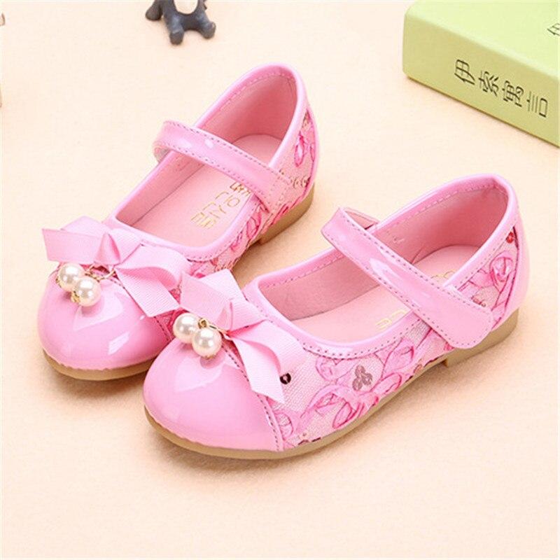Hotsale Cute Little Girls Shoes Pearl