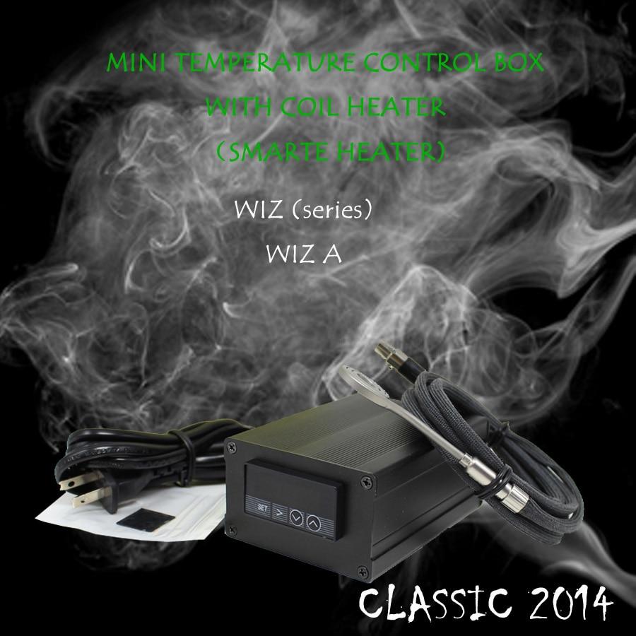 (CLASSIC 2014 ,WIZA , FLAT COIL )POWERAC120V 150W, SMALL DIGITAL TEMPERATURE CONTROL BOX NAIL COIL HEATER,DIRECT MANUFACTURER! new 2016 w2 white mini temperature control box nail coil heater titanium nail electronic cigarette