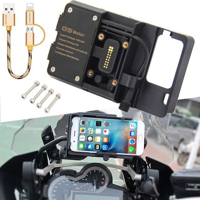 """טלפון נייד USB ניווט סוגר אופנוע USB טעינה הר עבור R1200GS F800GS עו""""ד F700GS R1250GS CRF 1000L F850GS F750GS"""