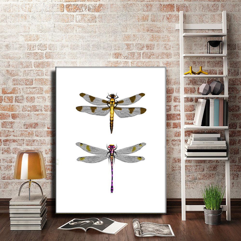 Dragonfly Canvas Painting Wall Art Printable Picture