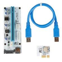 60CM USB 3.0 Mini PCI-E zu PCIe PCI Express 1x zu 16x Extender Riser Karte Adapter SATA 6Pin Power Kabel für Bitcoin BTC Bergbau