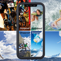 Waterproof Case for Apple iphone X Cover Outdoor Shockproof Coque Protective Cover for iphoneX Case 360 Degree Full Protection