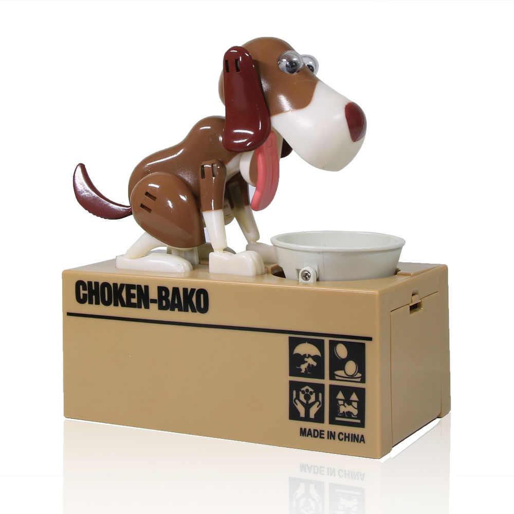 4 peças cão moeda banco choken bako robótico cão mealheiro moeda banco canino caixa de dinheiro presente aniversário para crianças