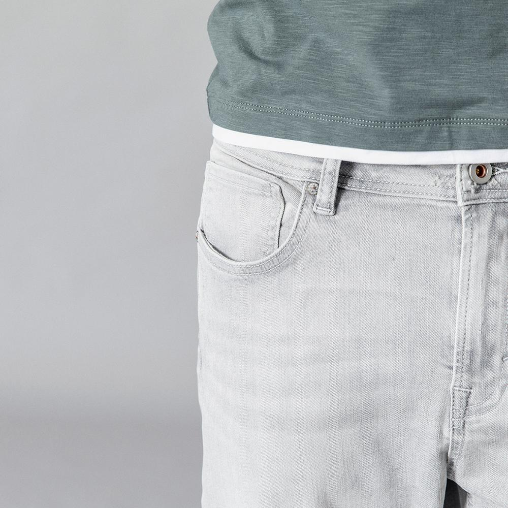SIMWOOD 2019 Washed Vintage Ripped Jeans Men Fashion Light Grey Slim Fit Ankle Length Denim Trousers Fashion High Quality Jeans-in Jeans from Men's Clothing    2