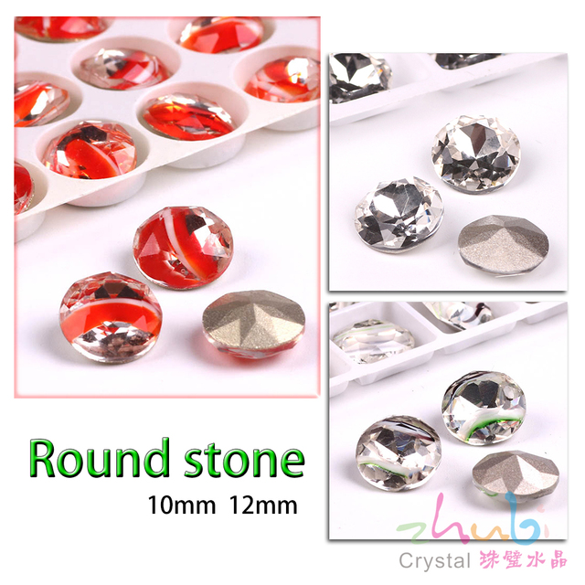 Sew On Crystal Rhinestone Mix Size 10 12mm Shiny Crystal Beads Pendant  Evening Dress Decorations 08f633343802
