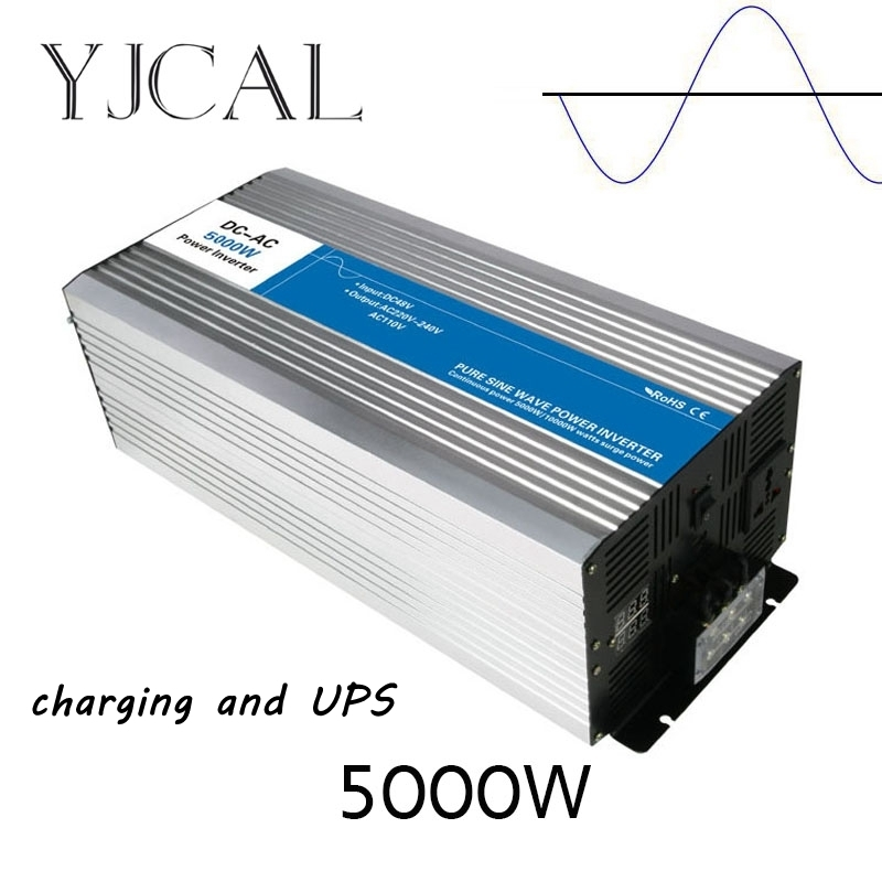 Pure Sine Wave Inverter 5000W Watt DC 12V To AC 220V Home Power Converter Frequency Electric Power Supply With Charger And UPS