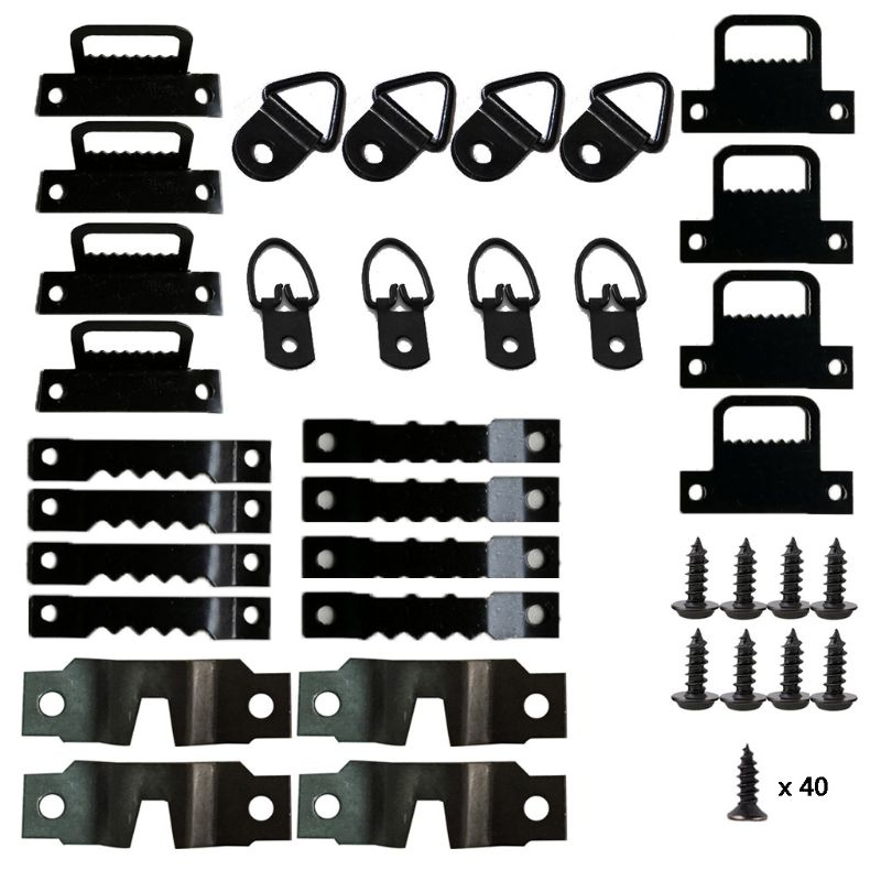 76pcs/set Photo Picture Frame Hanging Kit Heavy Duty Serrated Hanger Hardware For Wall Mounting