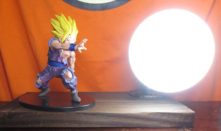 все цены на KNL HOBBY Dragon Ball LED desk lamp explosion models hand Gohan Ultra II charroux led Eye Spot shipping creative birthday gift
