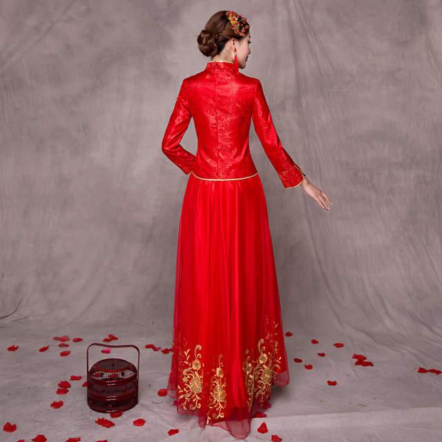 24c3401f1 placeholder Women Traditional Chinese Gown 2017 New Long Cheongsam Wedding  Dress Bridesmaid Bride Batch Loading Modern Qipao