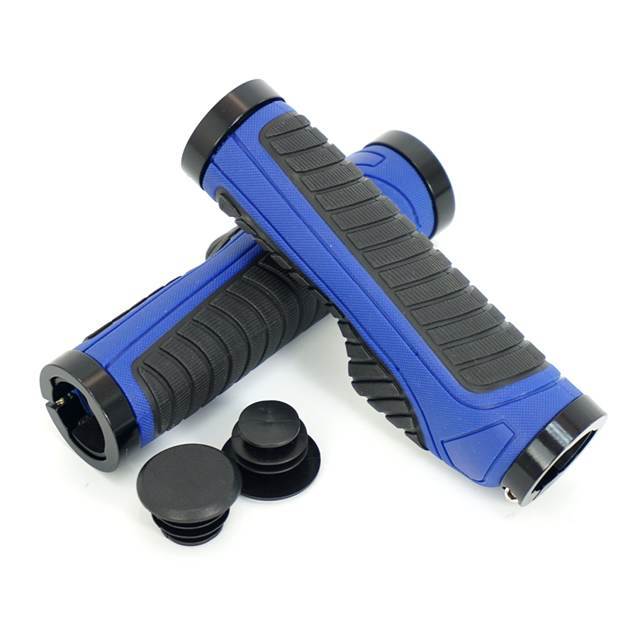 Cycle Ergonomic Bike bicycle Handlebar <font><b>Grips</b></font> MTB Mountain Road Bike Handlebar <font><b>Grips</b></font> Lockable Bicycle Parts Aluminum Alloy Rubber