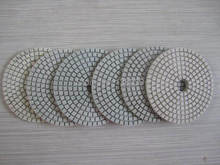 4'' economy Diamond wet flexible polishing pads for granite marble