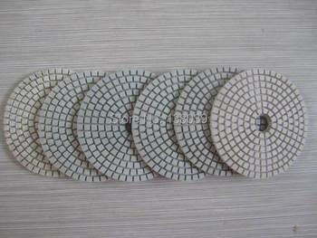 цена на 4'' economy Diamond wet flexible polishing pads for granite marble