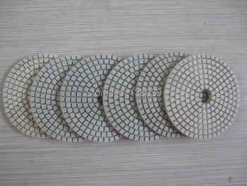 4\'\' economy Diamond wet flexible polishing pads for granite marble - SALE ITEM Tools