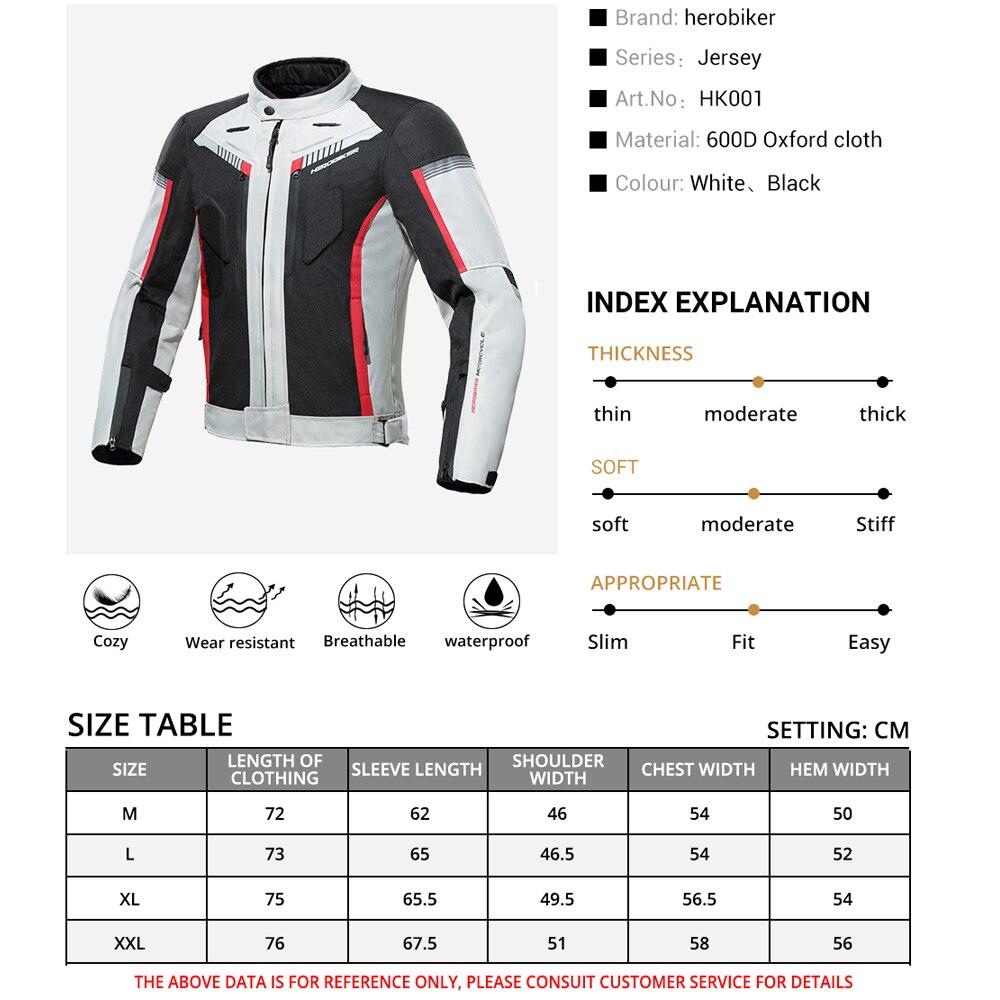HEROBIKER otoño chaqueta de invierno de la motocicleta impermeable a prueba de viento chaqueta de montar de carreras de Moto ropa de protección - 4