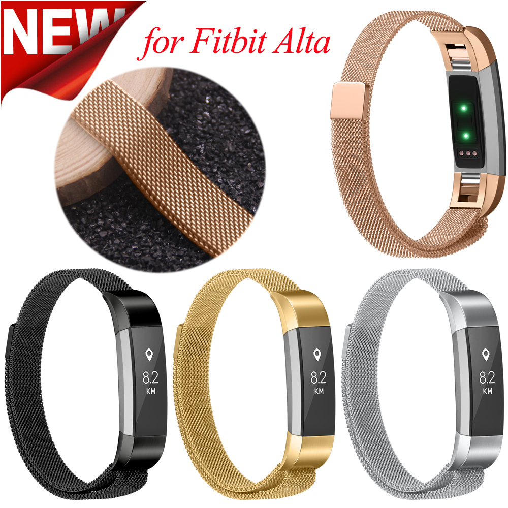 Stainless Steel Strap for Fitbit Alta Watch Band Milanese Magnetic for Fitbit Alta HR Replacement Wristband Metal Band stainless steel replacement watch band strap bracelet for fitbit alta fitbit alta hr metal wristband replacement watch band