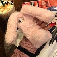 TANZบักส์บันนี่กระต่ายกระต่ายหูสุดน่ารักการ์ตูนปุยปกอ่อนกรณีสำหรับA Pple ip hone 7 7พลัส6 6วินาทีบวก5 SE...
