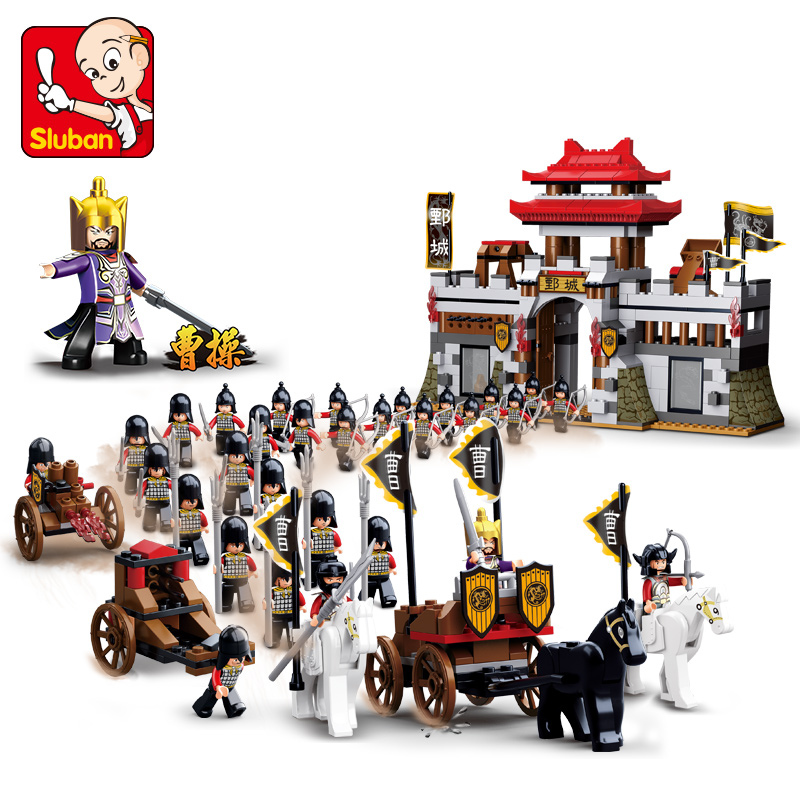 SLUBAN 0578 Sluban Romance Of The Three Kingdoms Building Block Brick Set Castle War DIY Eductional Kids Toys For Children lawrence m the wheel of osheim book three of the red queen s war