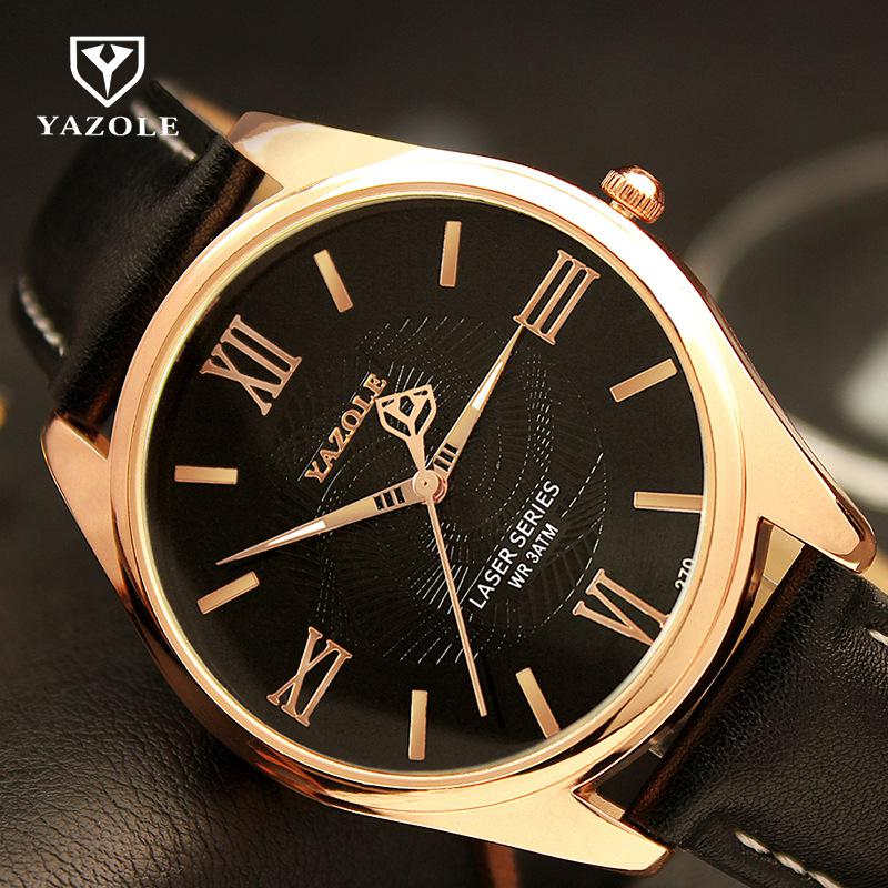 2016 Top Brand Luxury Famous Male Roman Dial reloj Rose Gold Business - Relojes para hombres