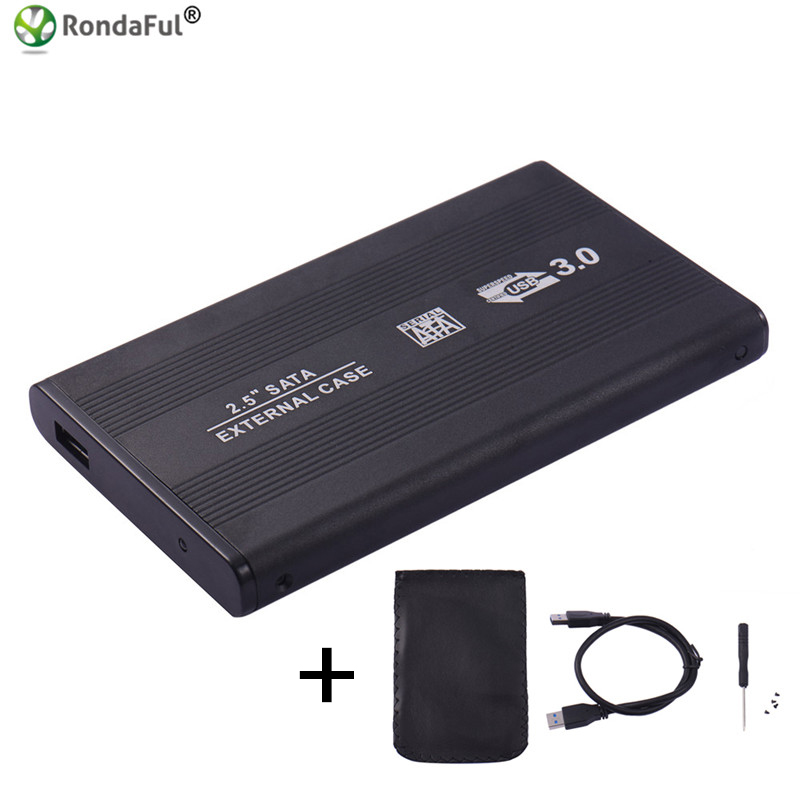 USB 3.0 HDD Hard Drive External Enclosure 2.5 inch SATA SSD Mobile Disk Box Cases laptop hard drive hdd caddy for Windows/Mac os wireless external hard disk box 2 5 3 5 inch usb 3 sd tf enclosure to sata case 6tb adapter hdd ssd with wifi network